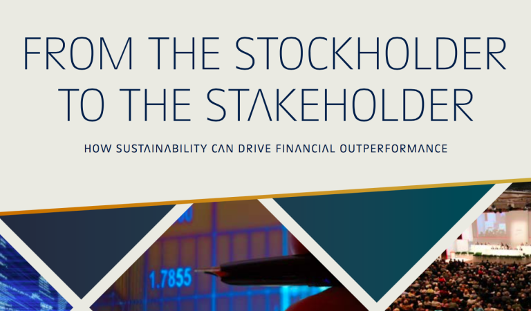 From the Stockholder to the Stakeholder